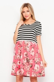 Honey Me Stripe And Floral Dress - Product Mini Image