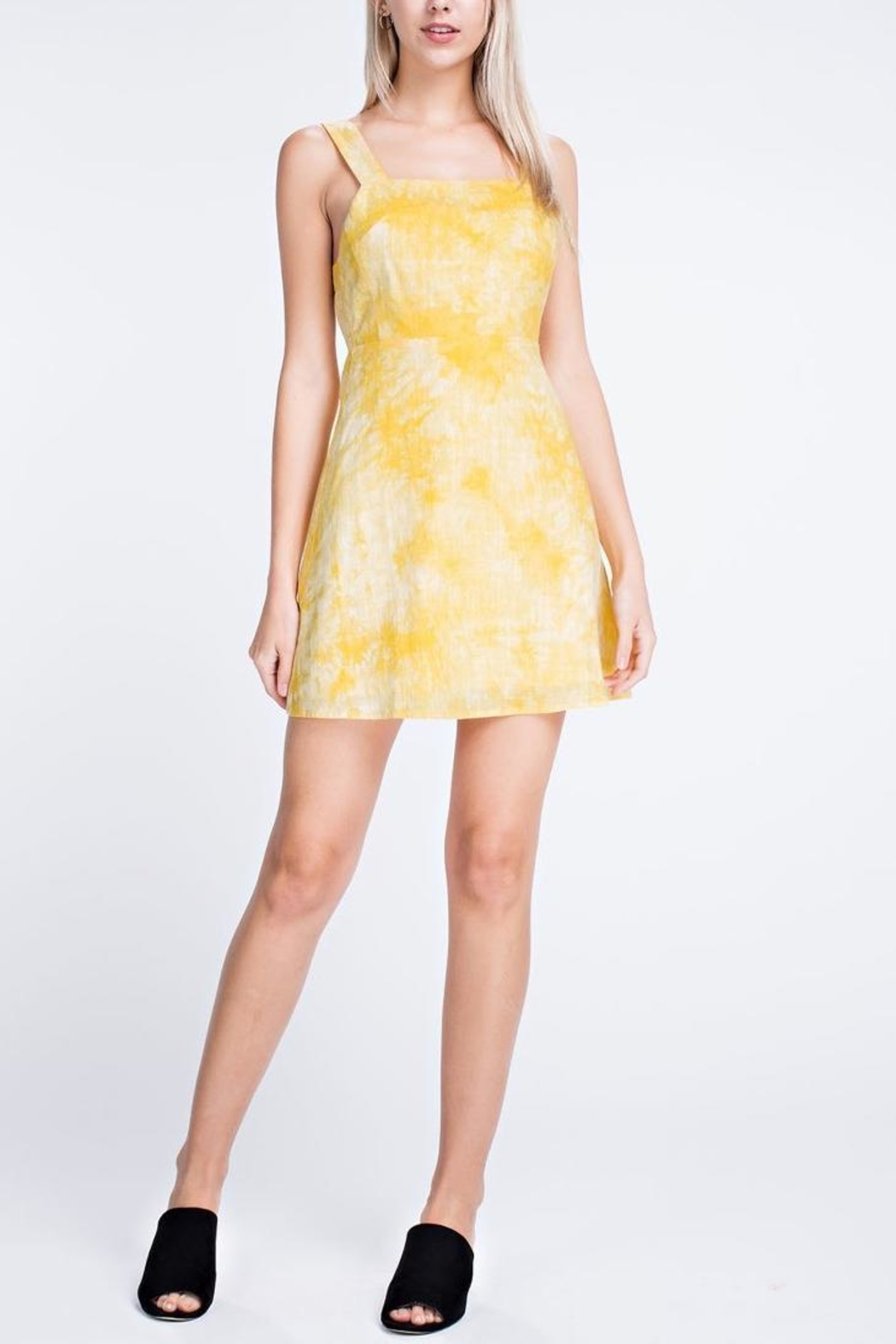 Honey Punch Apron Mini Dress - Front Cropped Image