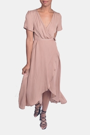 Honey Punch Autumn Wrap Dress - Front cropped