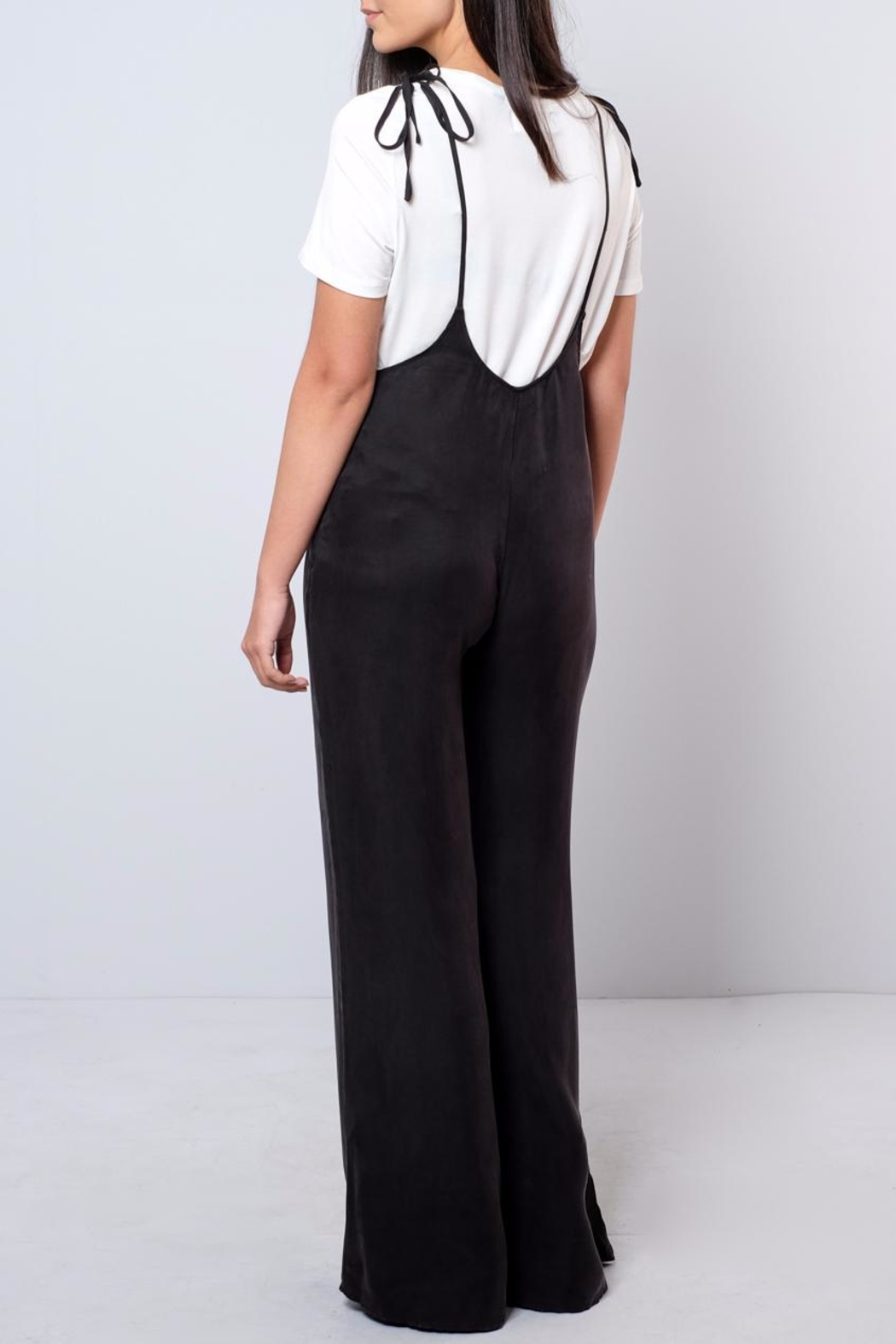 Honey Punch Bell-Bottom Jumpsuit - Side Cropped Image