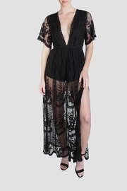 Honey Punch Black Butterfly Maxi-Dress - Product Mini Image