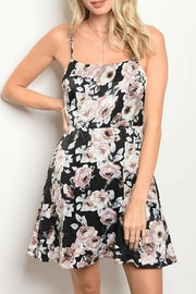 Honey Punch Black Floral Dress - Product Mini Image