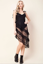 Honey Punch Black Lace Dress - Product Mini Image