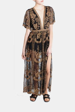 Honey Punch Plunging Lace Maxi Romper - Alternate List Image