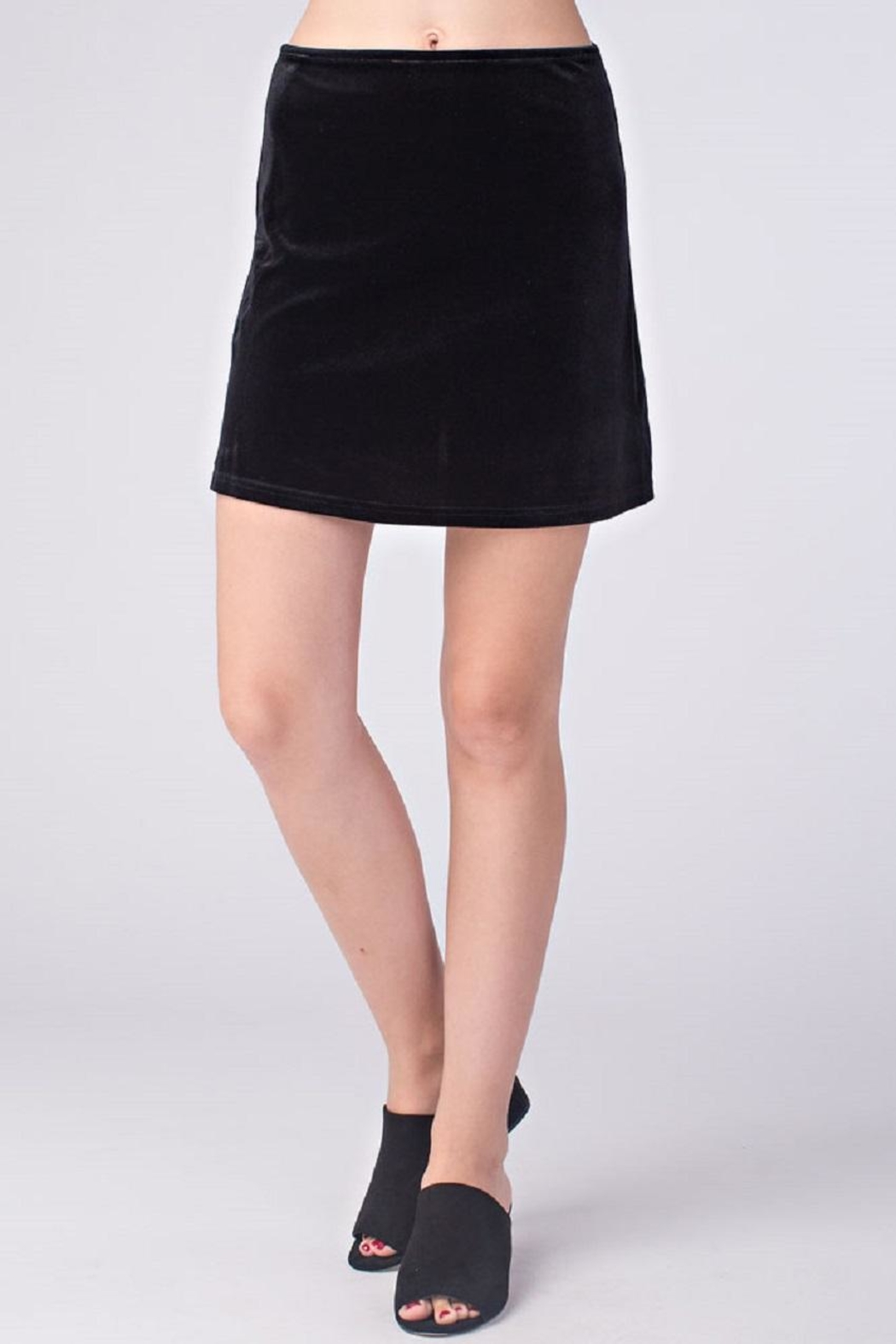Honey Punch Black Velvet Skirt - Main Image