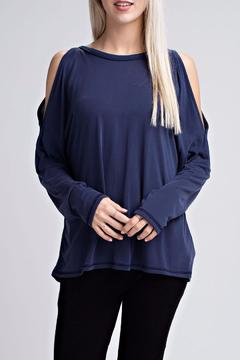 Shoptiques Product: Blue Open Back Top