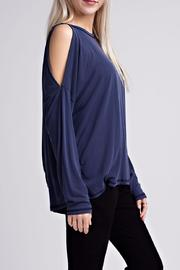 Honey Punch Blue Open Back Top - Side cropped