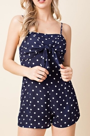 Honey Punch Blue Polkadot Romper - Product Mini Image
