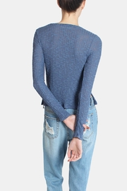 Honey Punch Blue Ribbed Sweater Top - Other