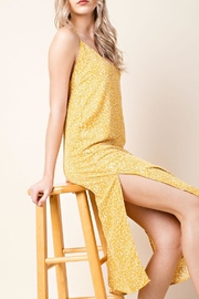 Honey Punch Bright Yellow Dress - Back cropped