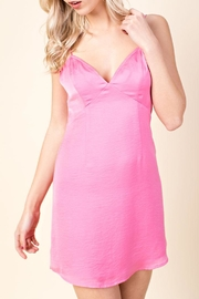 Honey Punch Bubblegum Slip Dress - Product Mini Image
