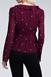 Honey Punch Burgundy Star Top - Other