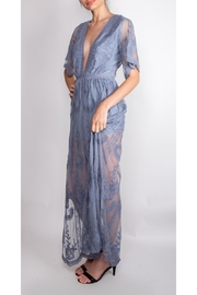 Wild Honey Butterfly Lace Maxi-Dress - Side cropped