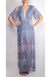 Wild Honey Butterfly Lace Maxi-Dress - Front full body