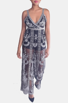 Honey Punch Butterfly Lace Jumpsuit - Product List Image