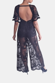 Honey Punch Butterfly Lace Jumpsuit - Back cropped