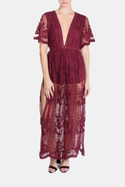 Honey Punch Butterfly Lace Maxi Dress - Product Mini Image