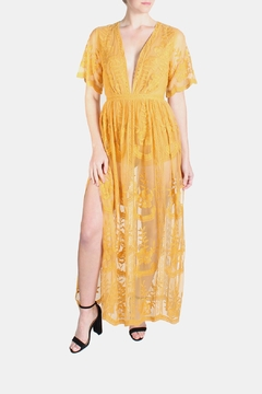 Shoptiques Product: Butterfly Marigold Maxi Dress