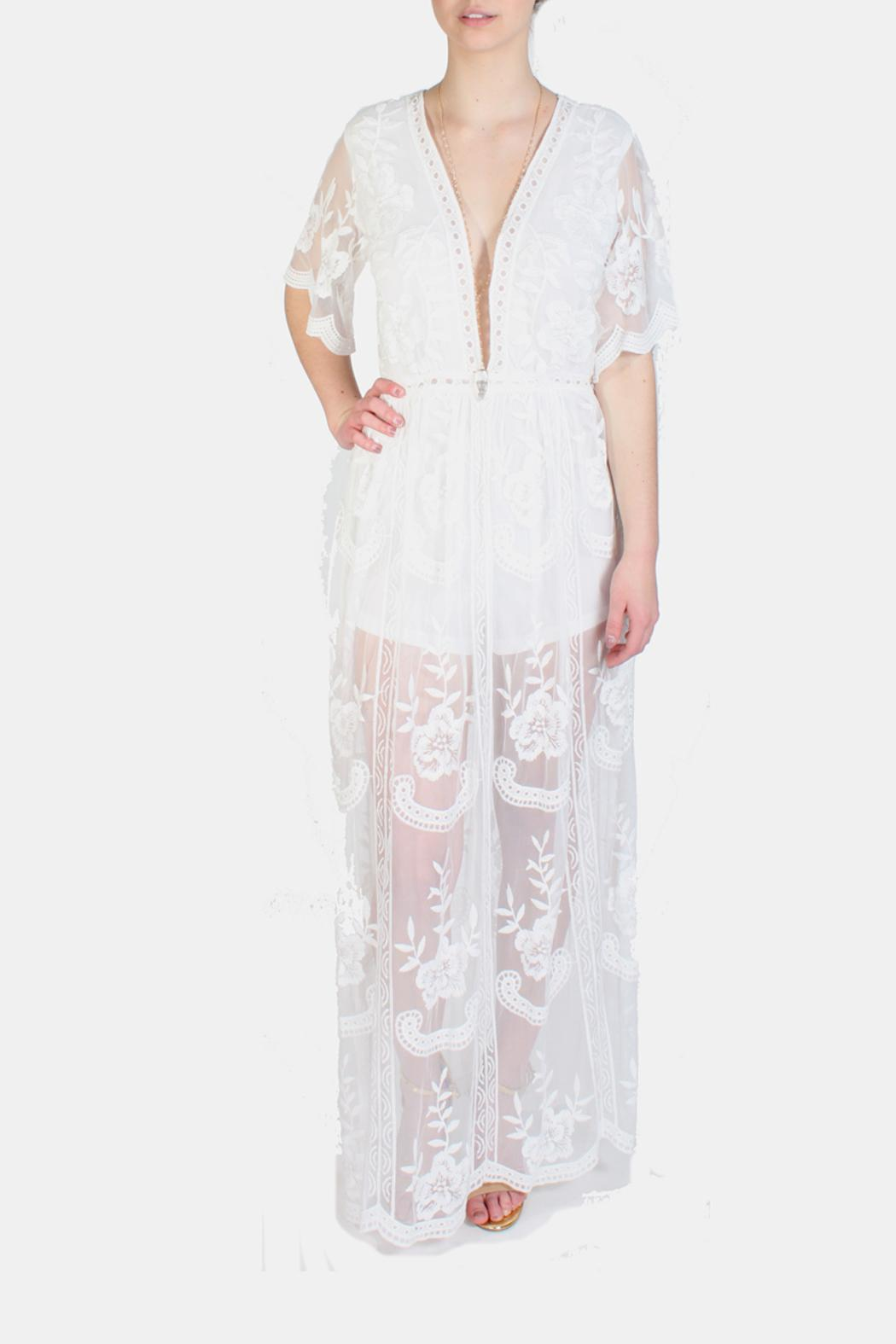 eae7b34d5cb Honey Punch Butterfly Lace White Romper from Los Angeles by Goldie s ...