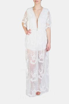 Shoptiques Product: Butterfly Lace White Romper