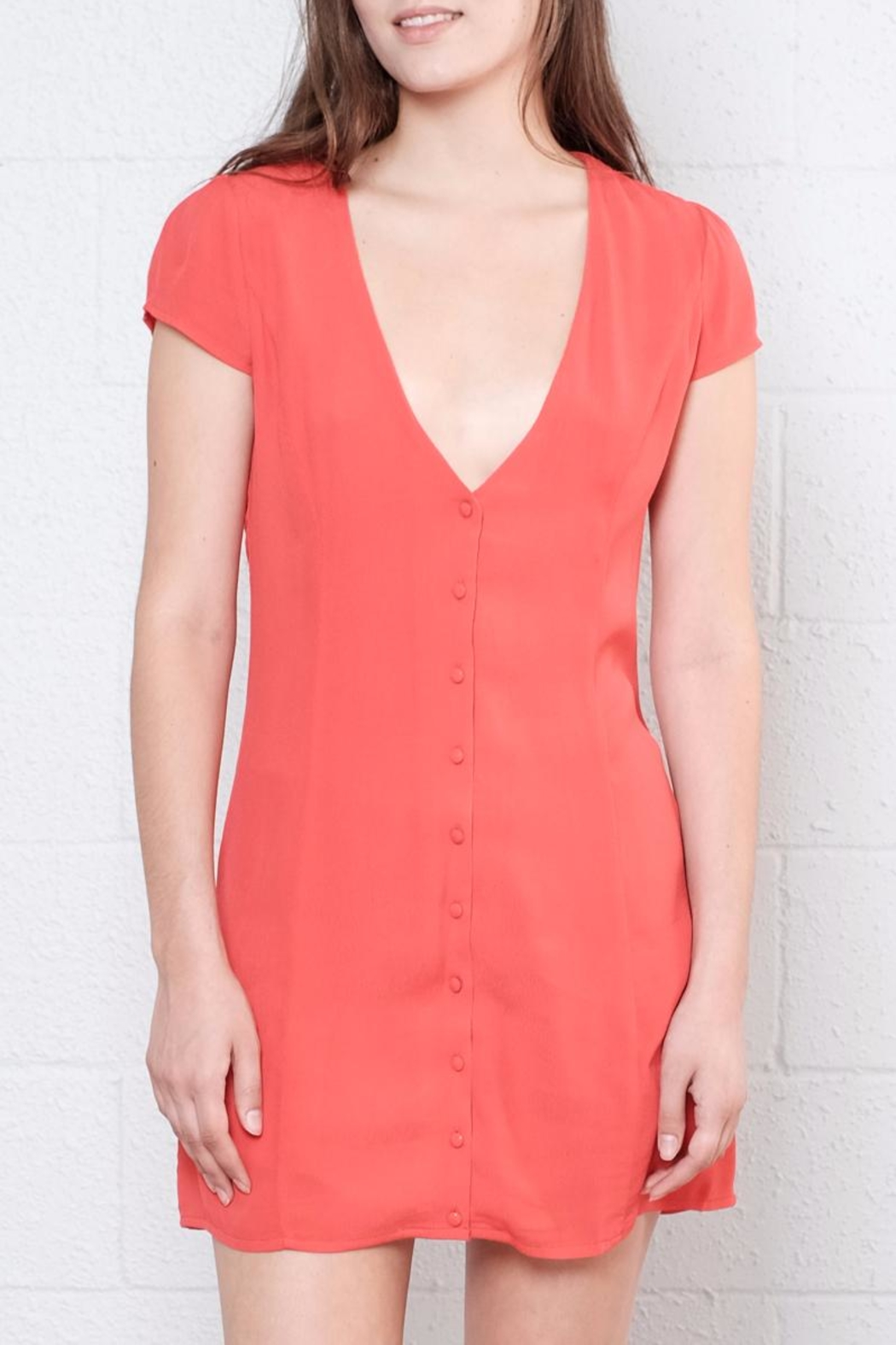 Honey Punch Button Down Dress - Front Full Image