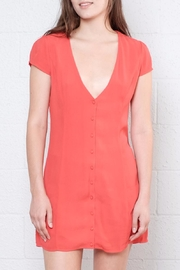 Honey Punch Button Down Dress - Front full body