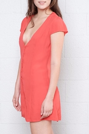 Honey Punch Button Down Dress - Side cropped
