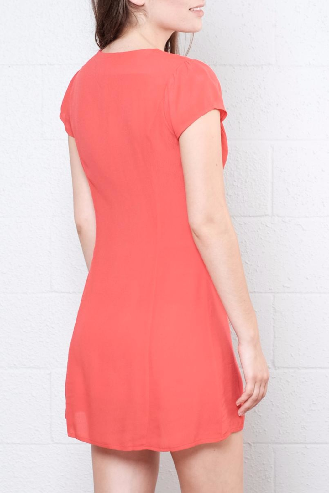 Honey Punch Button Down Dress - Back Cropped Image