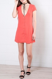 Honey Punch Button Down Dress - Front cropped