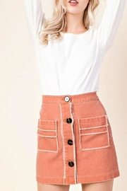 Honey Punch Button Front Skirt - Product Mini Image