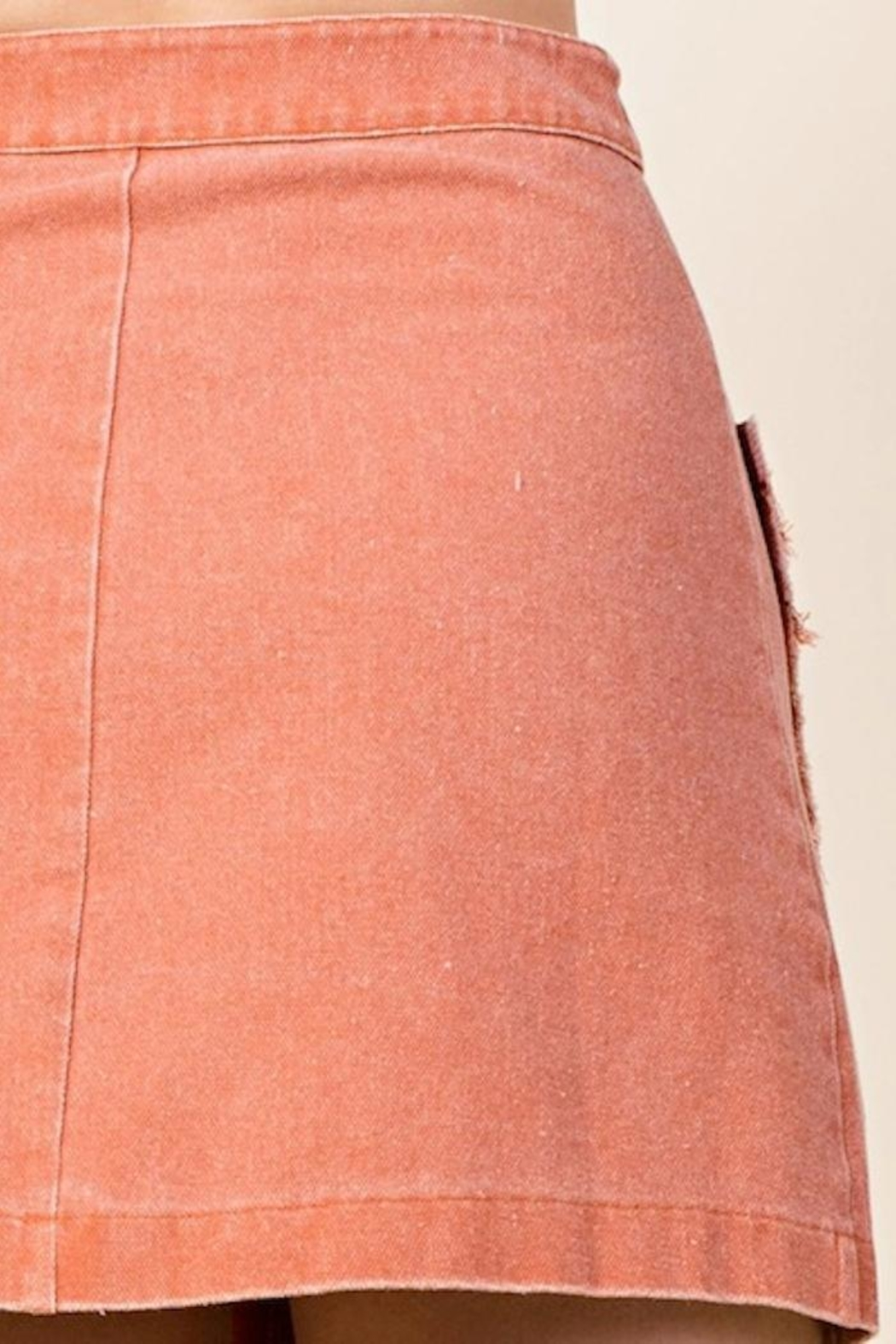 Honey Punch Button Front Skirt - Side Cropped Image