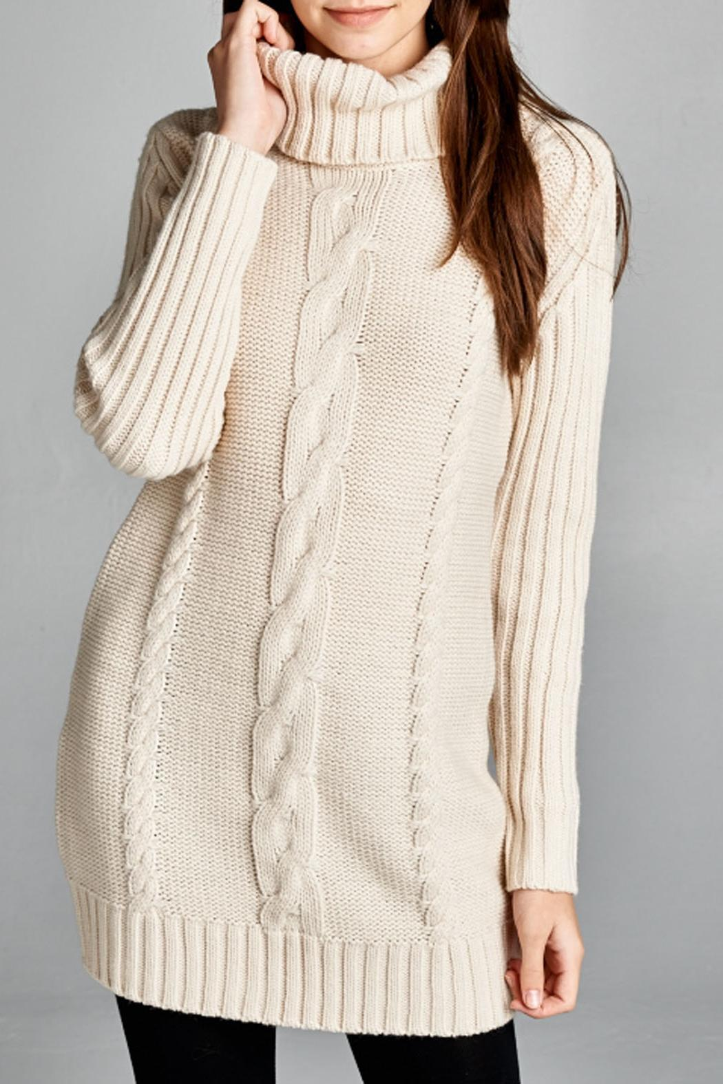 Honey punch cable knit sweater dress from montana by for Sweater over wedding dress