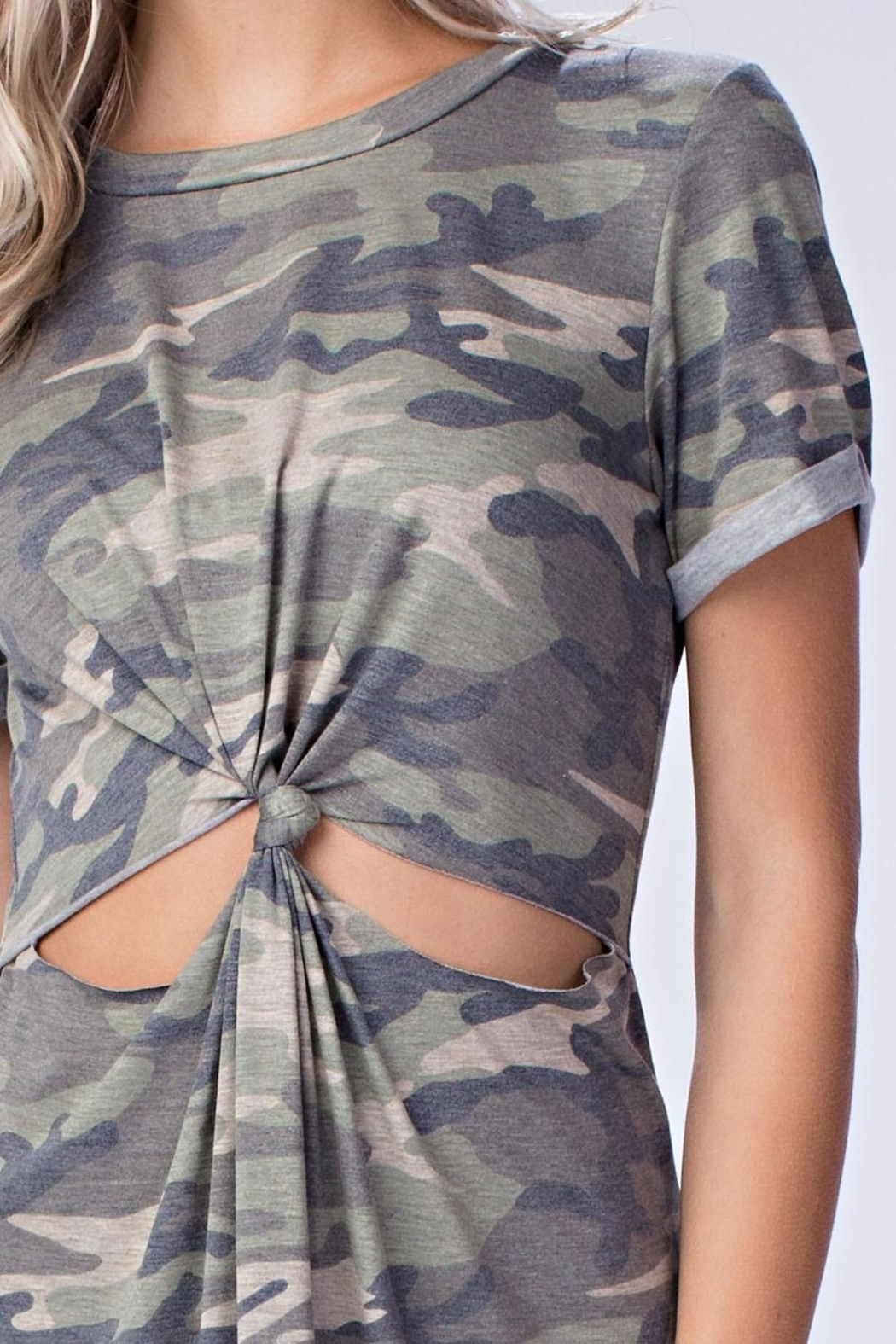Honey Punch Camo Cut Out Dress - Front Full Image