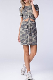 Honey Punch Camo Cut Out Dress - Product Mini Image