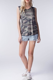 Honey Punch Camo Muscle Tank Top - Product Mini Image