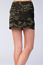 Honey Punch Camo Skirt - Side cropped