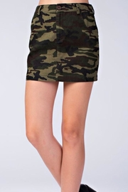 Honey Punch Camo Skirt - Front cropped