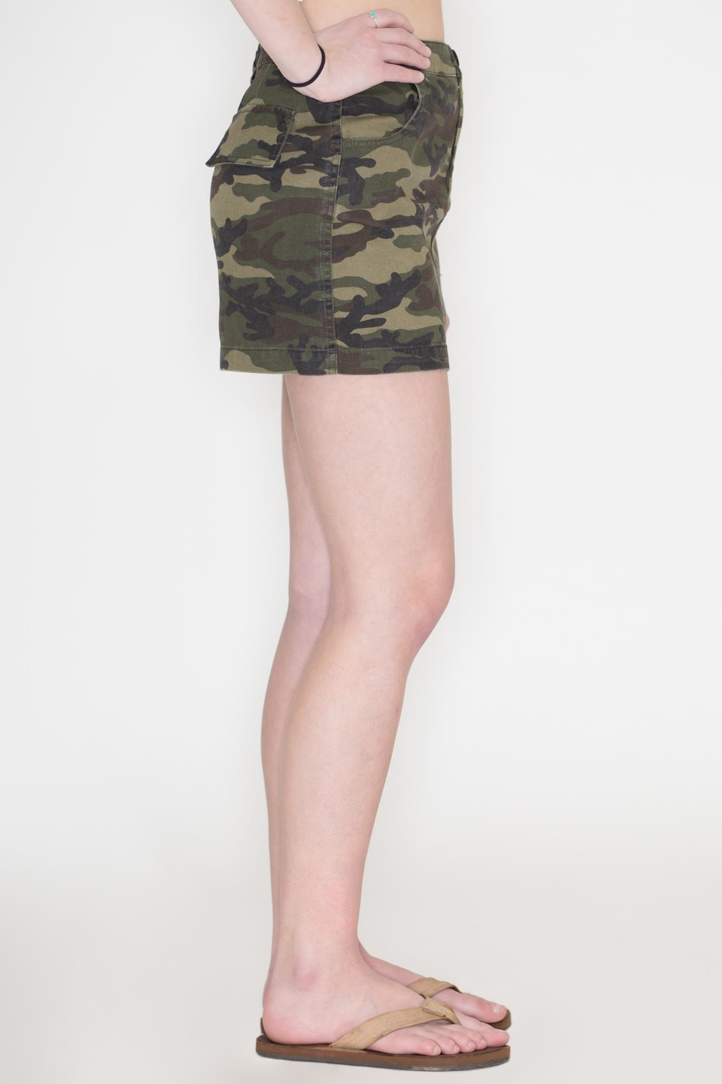 Honey Punch Camouflage Skirt - Side Cropped Image