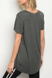 Honey Punch Charcoal Jersey Tee - Front full body