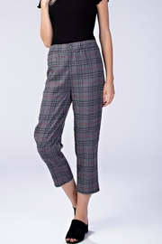 Honey Punch Check Cropped Pants - Product Mini Image