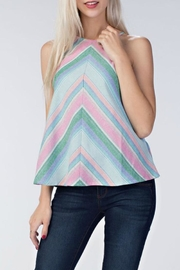Honey Punch Chevron Love Top - Product Mini Image