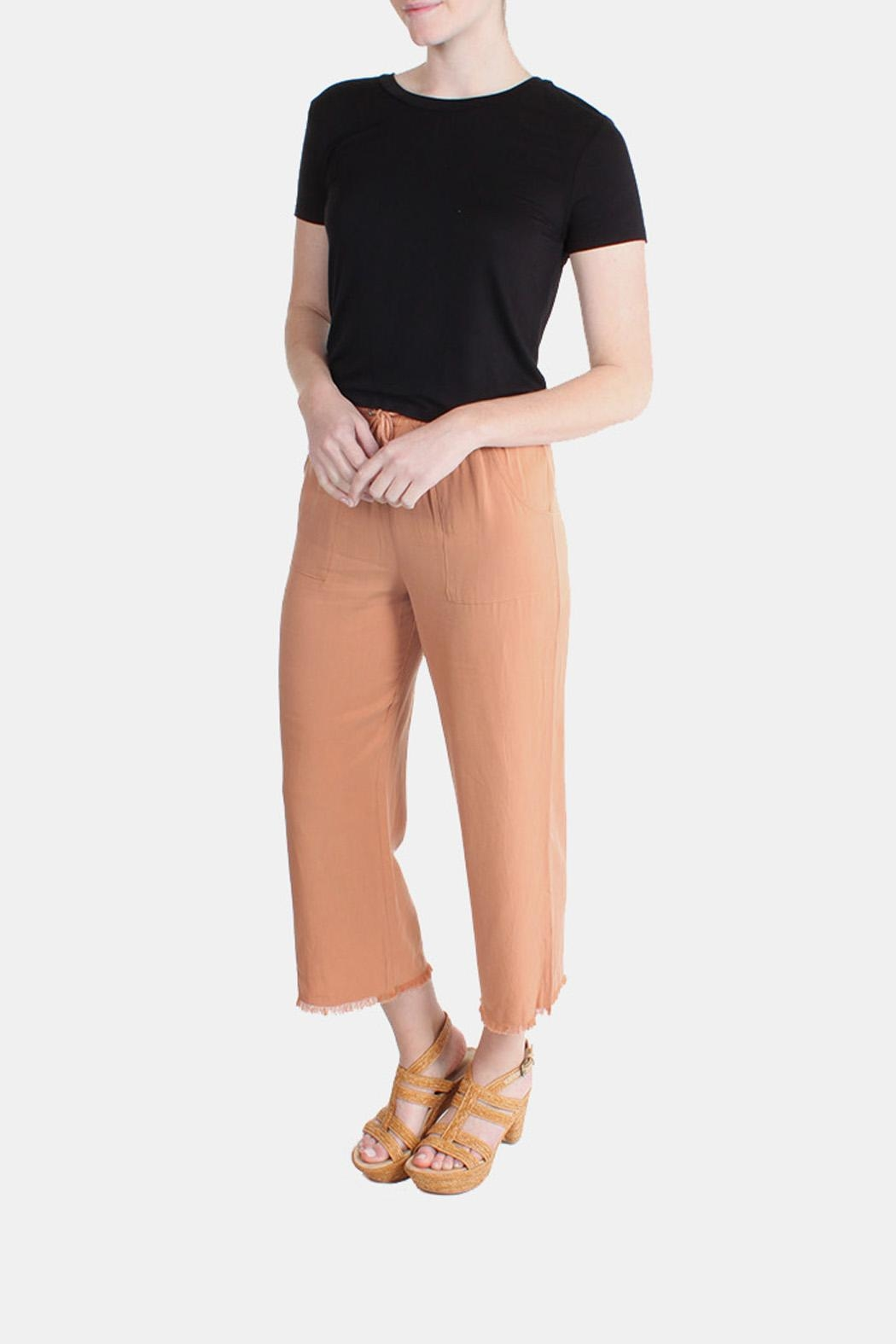 Honey Punch Clay Drawstring Pants - Side Cropped Image