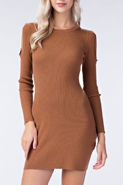 Honey Punch Cold Shoulder Dress - Product Mini Image