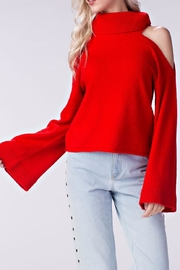 Honey Punch Cold Shoulder Sweater - Product Mini Image
