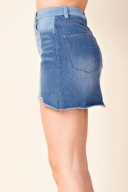 Honey Punch Colorblock Denim Skirt - Side cropped