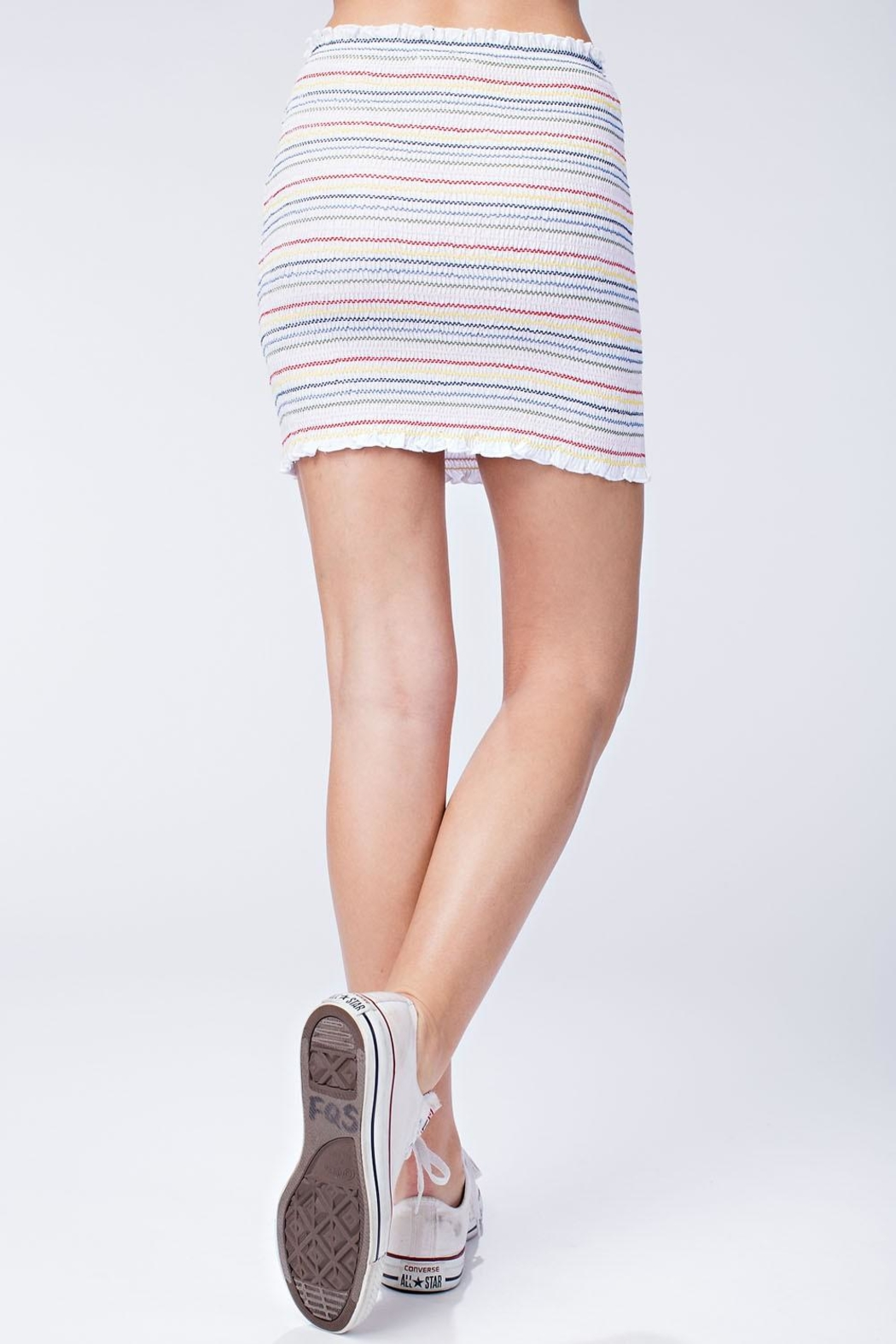 Honey Punch Colorful Stripe Skirt - Side Cropped Image