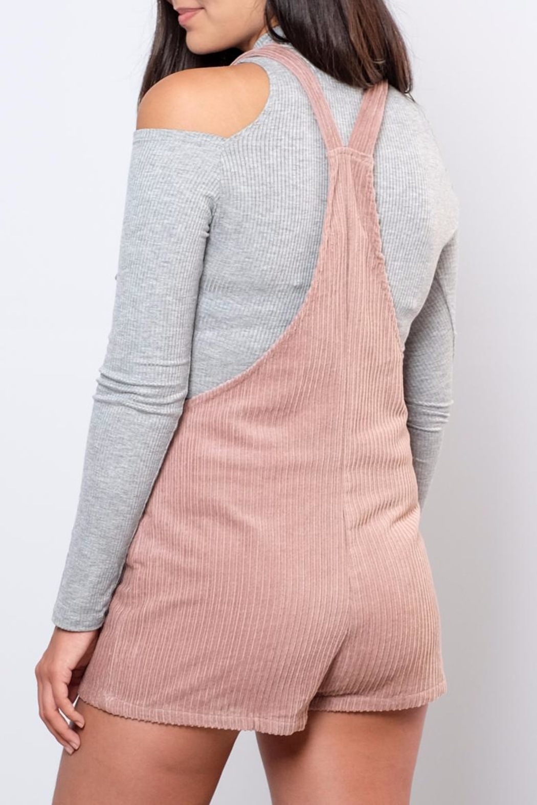 Honey Punch Corduroy Romper - Side Cropped Image