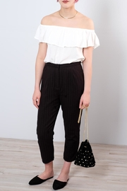 Honey Punch Cropped Black Slacks - Product Mini Image