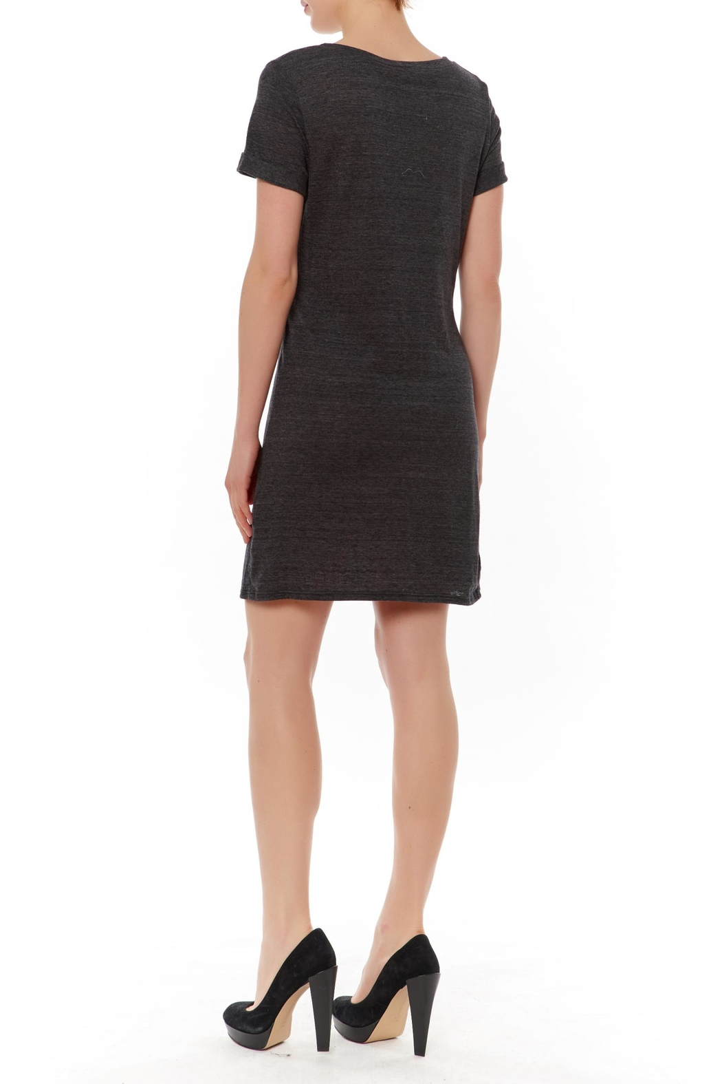Honey Punch Cut Out T-Shirt Dress - Front Full Image