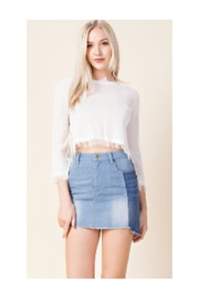 Honey Punch Denim Skirt - Product Mini Image